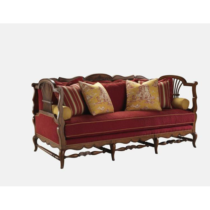 Discount Country Furniture: Highland House 4110-84 French Country Gerbe Sofa Discount