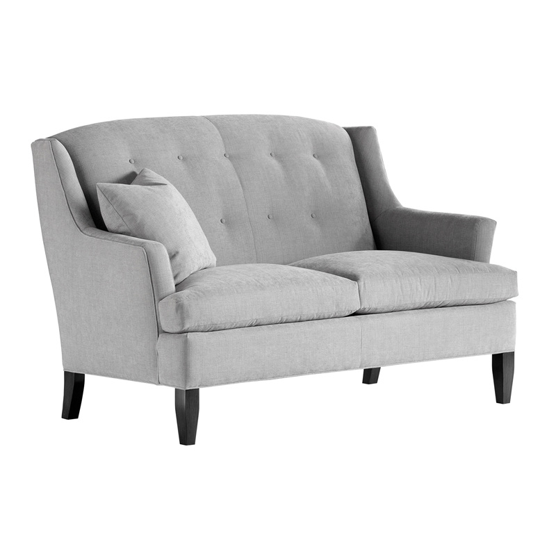 Jessica Charles 1793 T Cagney Tufted Settee Discount Furniture At Hickory Park Furniture Galleries