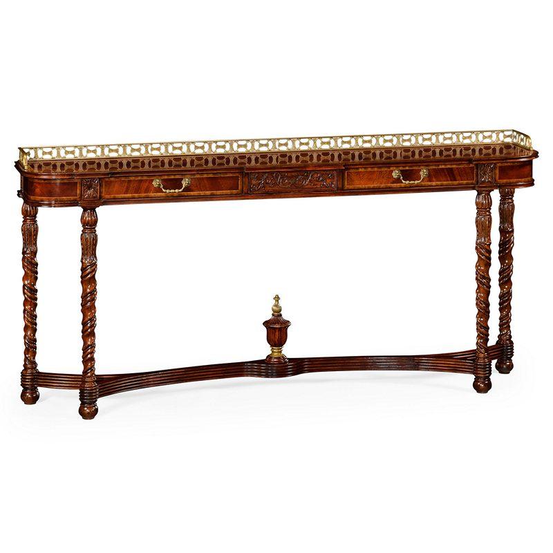 Elegant Classical Mahogany Console 492804. Buckingham Jonathan Charles