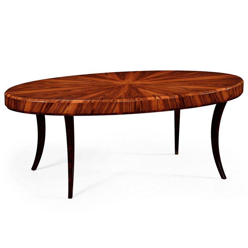 Jonathan Charles 494139-SAH Santos Art Deco Oval Coffee