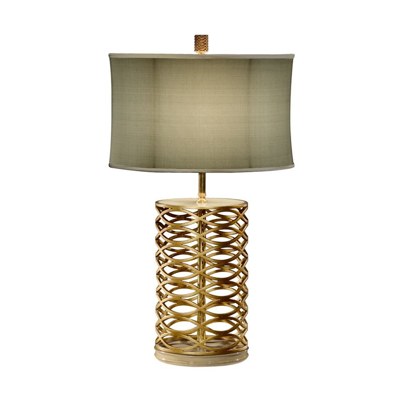 Jonathan Charles 494966 G Luxe Gilded Interlaced Iron