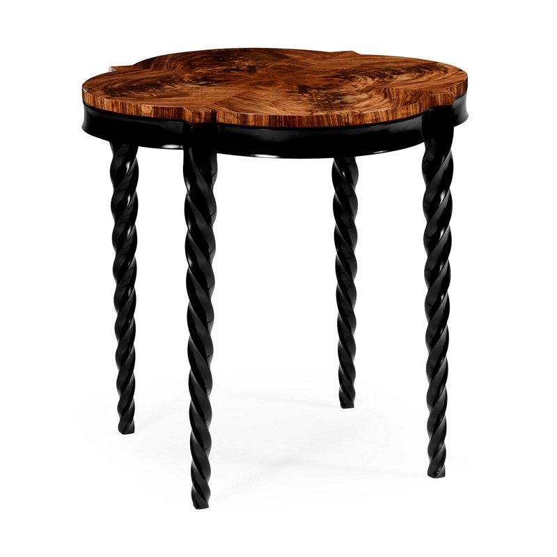jonathan charles 495154 bla twist 28 inch black twisted leg quatrefoil side table discount. Black Bedroom Furniture Sets. Home Design Ideas