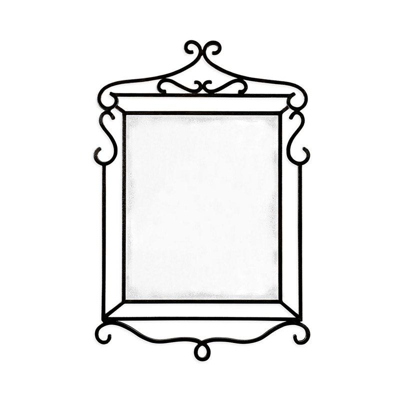 Jonathan charles 495416 artisan wrought iron mirror for Wrought iron mirror