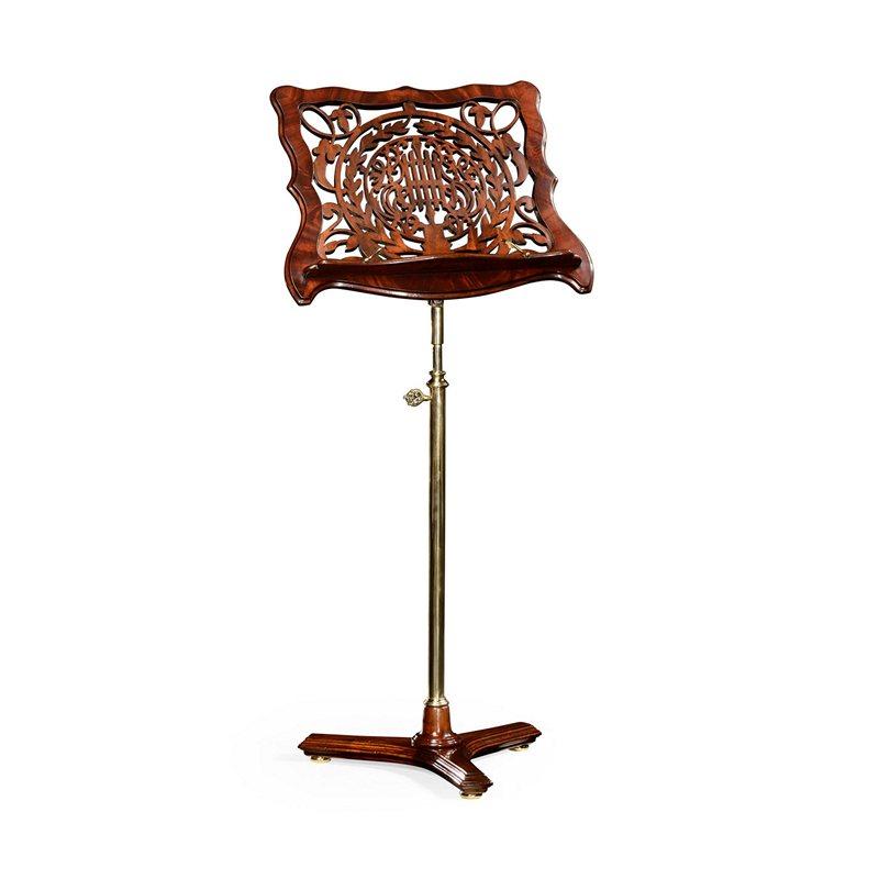 jonathan charles 499082 chatsworth mahogany fretwork adjustable music stand discount furniture. Black Bedroom Furniture Sets. Home Design Ideas