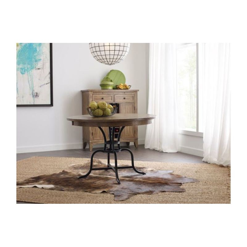 Kincaid 663 44mp the nook oak 44 inch round metal dining for 44 inch round dining table