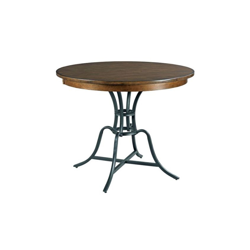 Kincaid 664 744 the nook oak 44 inch round metal counter for 44 inch round dining table