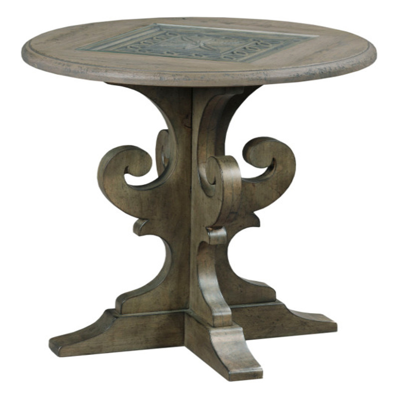 Wood Smoke Black Radford Dining Table: Kincaid 608-918 Greyson Warrick Round End Table Discount