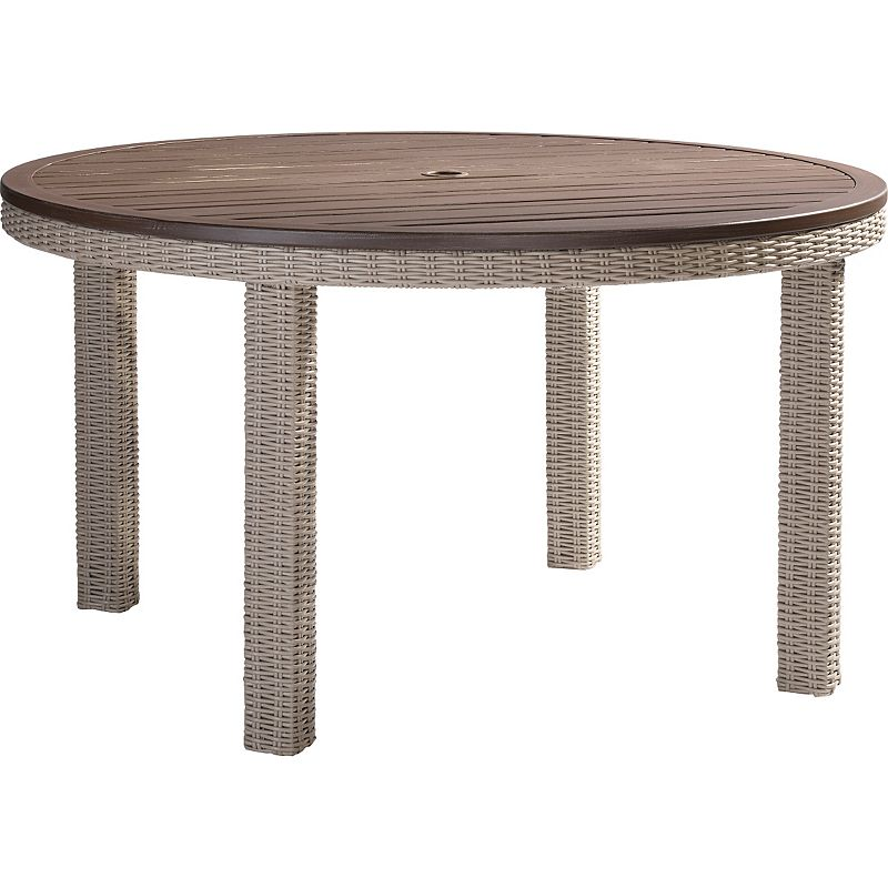 Lane venture 9529 52 requisite round dining table discount for Table 52 parking