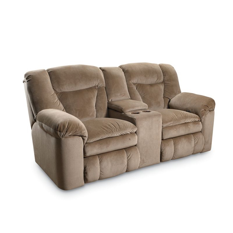 Lane 249 43 Talon Double Reclining Console Loveseat With