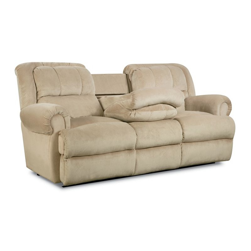 Lane 323 46 Evans Double Reclining Sofa With Fold Down Tray Table Discount Furniture At Hickory