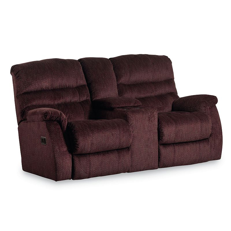 Lane 328 43 Garrett Double Reclining Console Loveseat Discount Furniture At Hickory Park