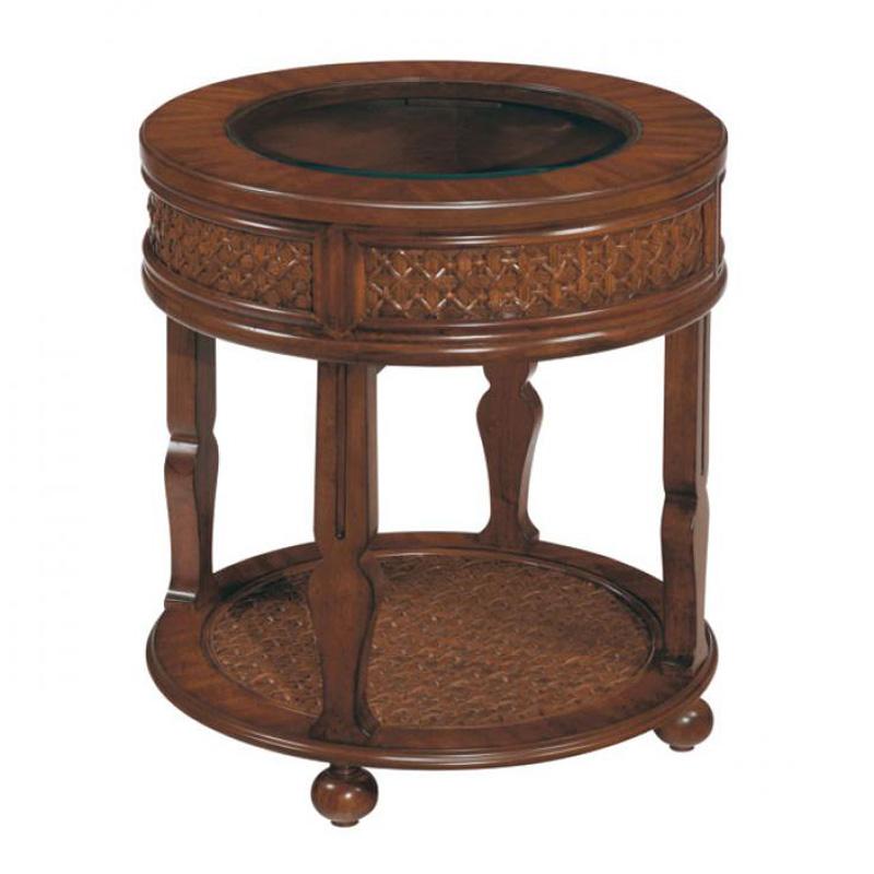 Laurelhouse designs 113535 00 manila round end table for Affordable furniture manila