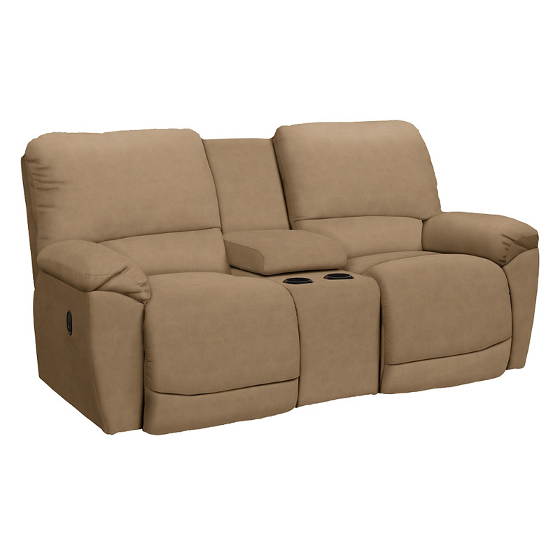 La Z Boy 490749 Tyler La Z Time Full Reclining Loveseat With Console Discount Furniture At