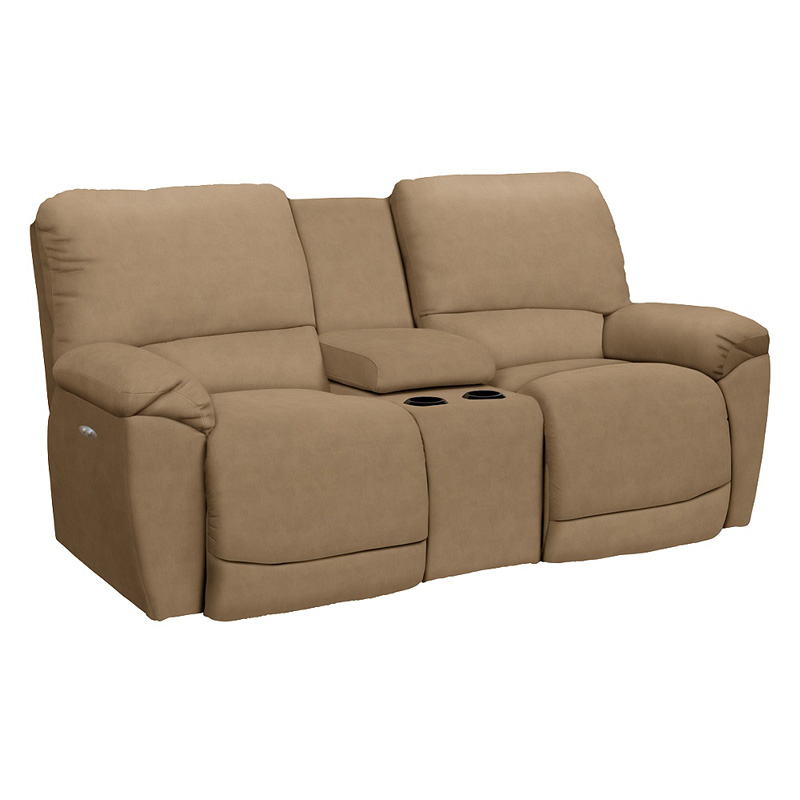 La Z Boy 49p749 Tyler Power La Z Time Full Reclining Loveseat With Console Discount Furniture At