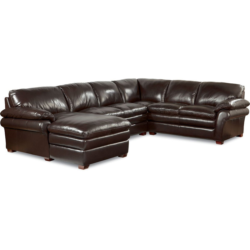 La z boy 410 brock sectional discount furniture at hickory Leather lazy boy sofa