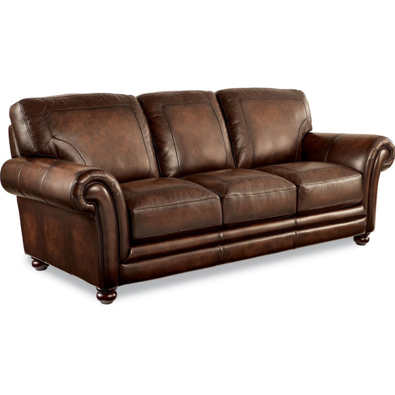 La z boy 805 william sofa discount furniture at hickory Leather lazy boy sofa