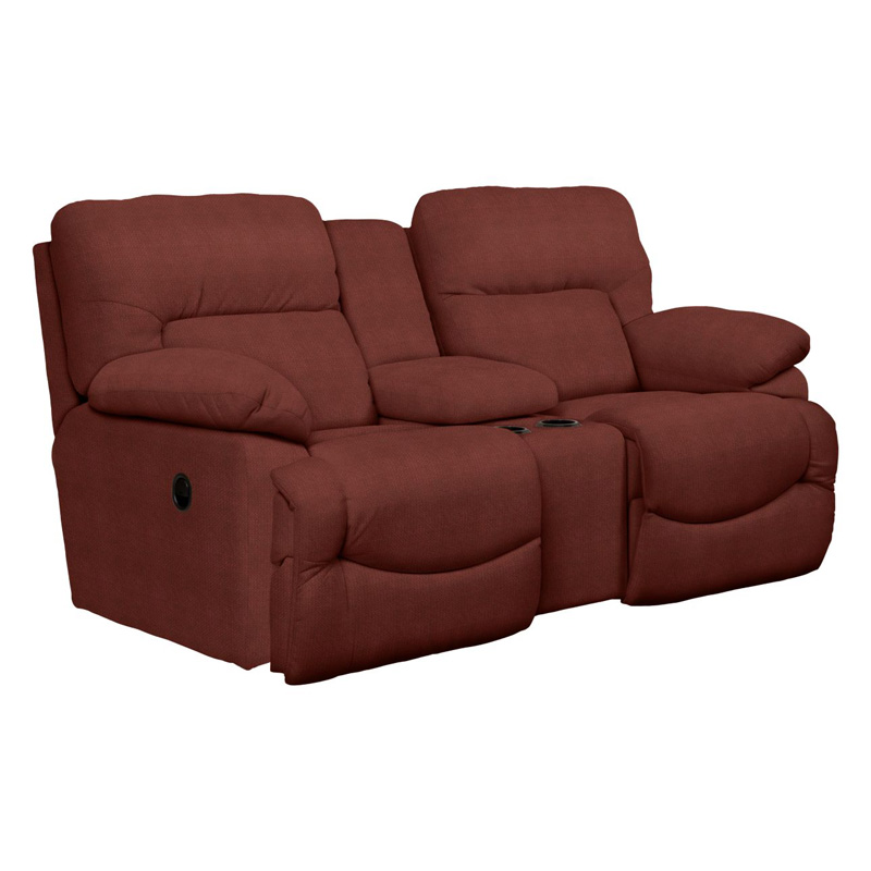 La Z Boy 711 Asher La Z Time Full Reclining Loveseat With Middle Console Discount Furniture At