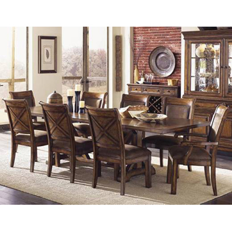 Legacy classic 931 622 931 340 341 larkspur trestle for Legacy classic dining room furniture