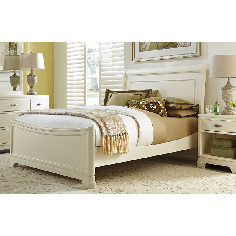 Legacy Classic 9910 4303k Park City White Sleigh Bed Twin
