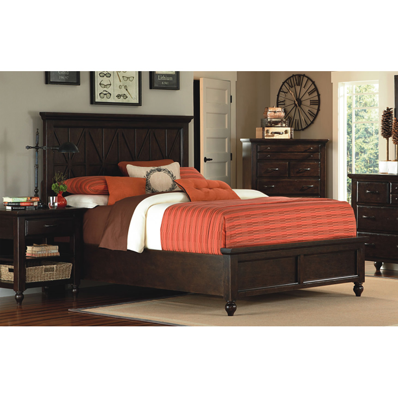 Legacy classic 3700 4105k thatcher panel bed queen for L furniture warehouse queen