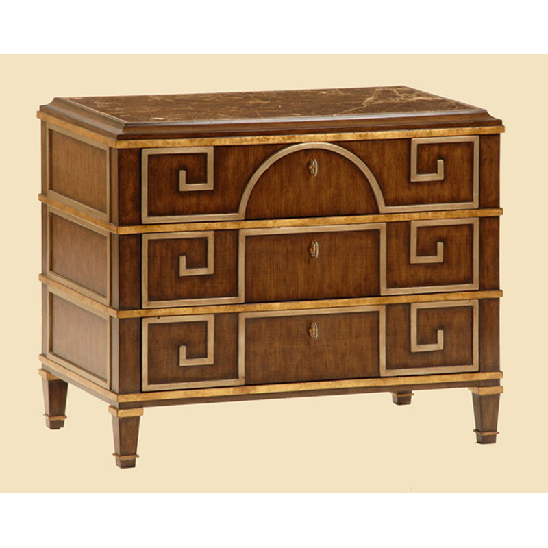 Marge Carson Bh14 Borghese Bedside Chest Discount Furniture At Hickory Park Furniture Galleries