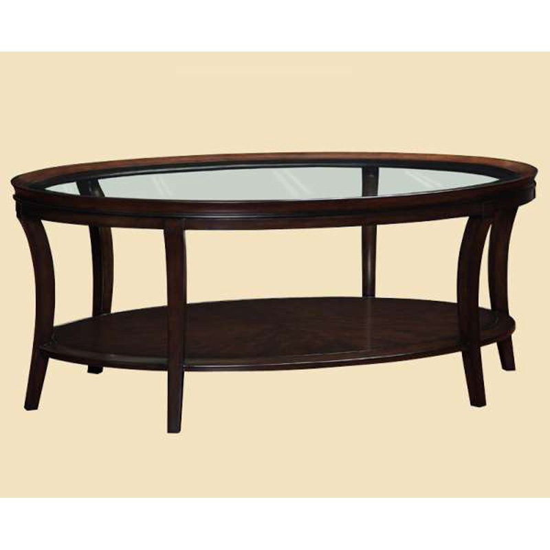 Marge Carson Sna03 Sonoma Oval Cocktail Table Discount Furniture At Hickory Park Furniture Galleries