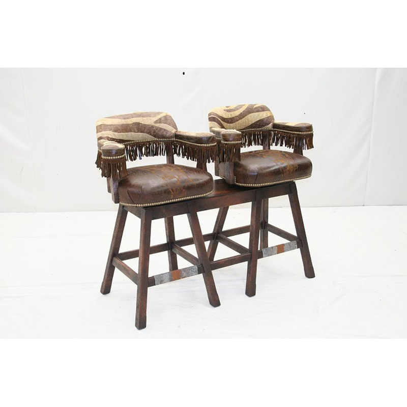 Old Hickory Tannery Bar 48 Dble Oht Barstool Double Swivel