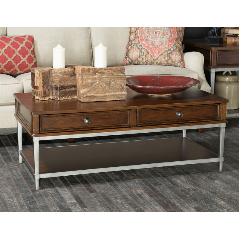 Rachael ray home 6040 401 upstate cocktail table with for Rachael ray furniture collection