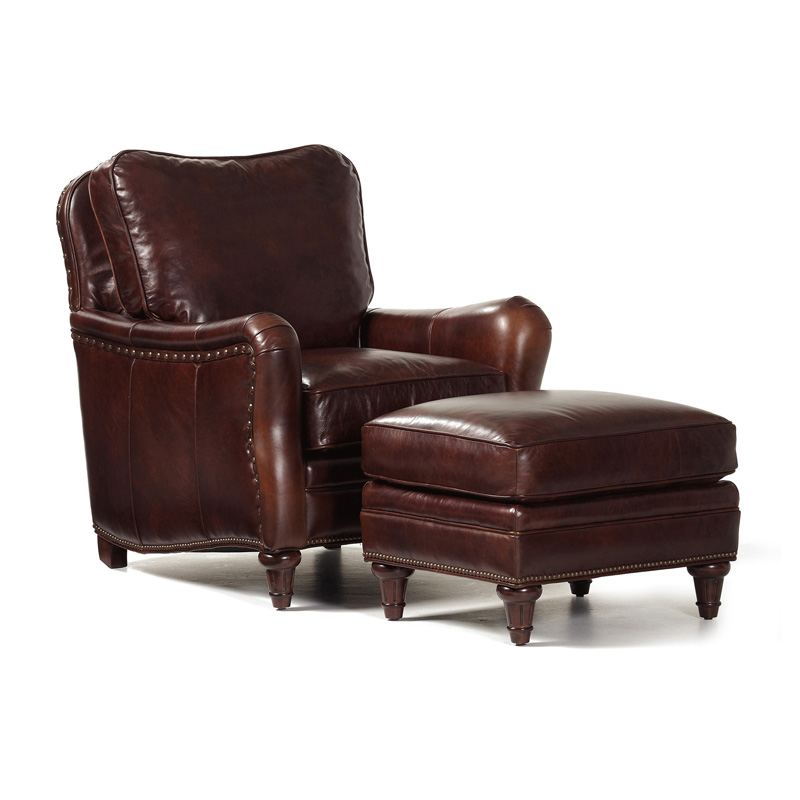 Randall Allan 152 Finley Chair And Ottoman Discount Furniture At Hickory Park Furniture Galleries