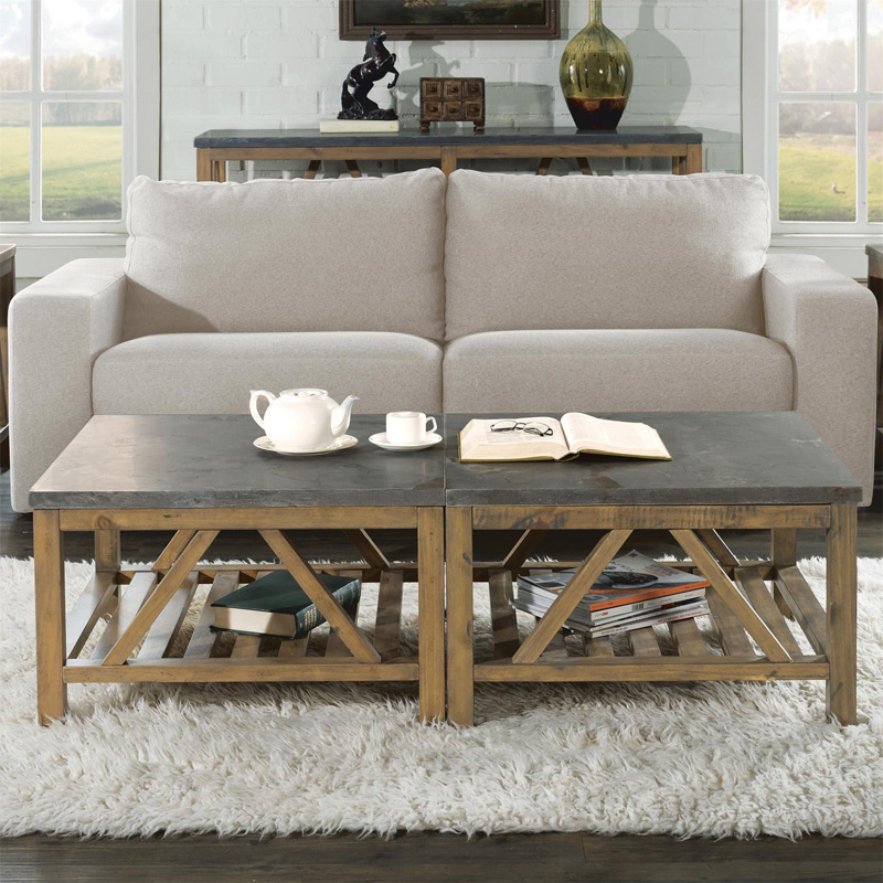 Riverside 16503 Weatherford Bunching Coffee Tables Discount Furniture At Hickory Park Furniture