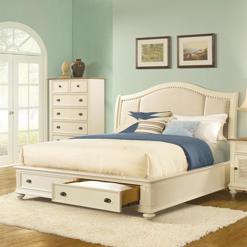 Riverside 32582 Coventry Queen King Sleigh Storage Bed Rails Discount Furnitu