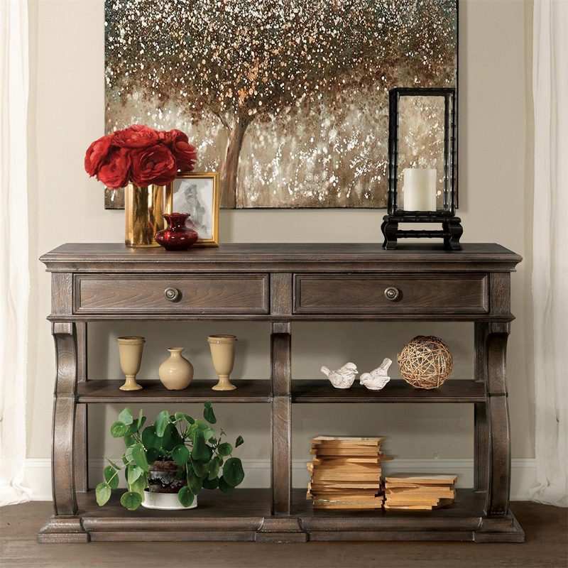 Riverside 24915 Verona Console Table Discount Furniture At Hickory Park Furniture Galleries