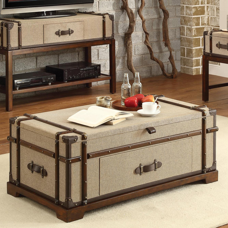 Riverside Trunk Lift Top Coffee Table Bon Voyage Steamer Sale Livingroom Hickory Park Furniture