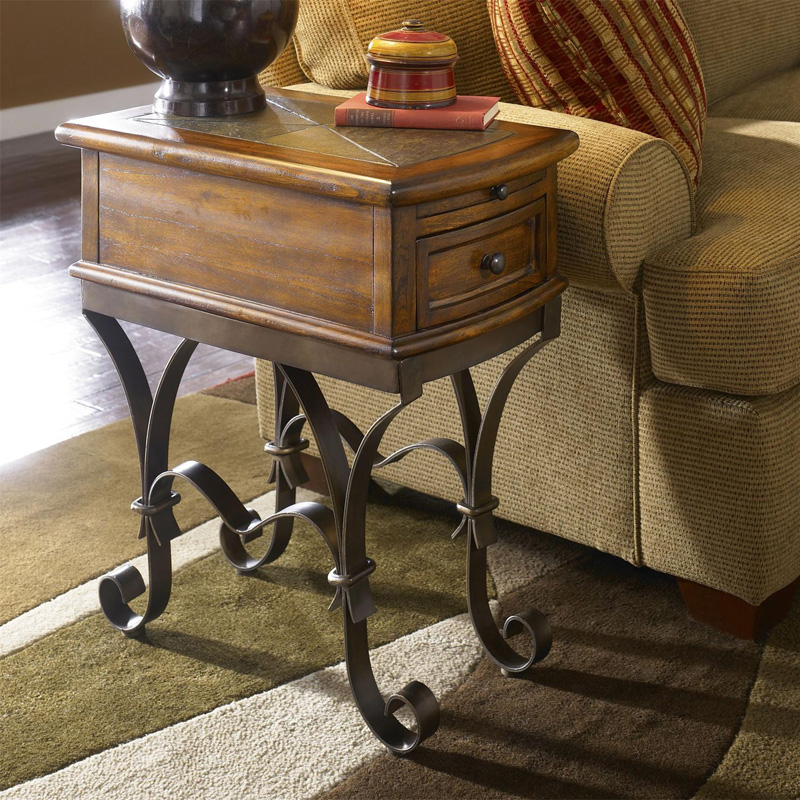 riverside 31010 stone forge chairside table discount furniture at