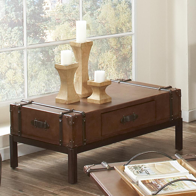 Riverside 38702 Latitudes Suitcase Coffee Table Discount Furniture At Hickory Park Furniture