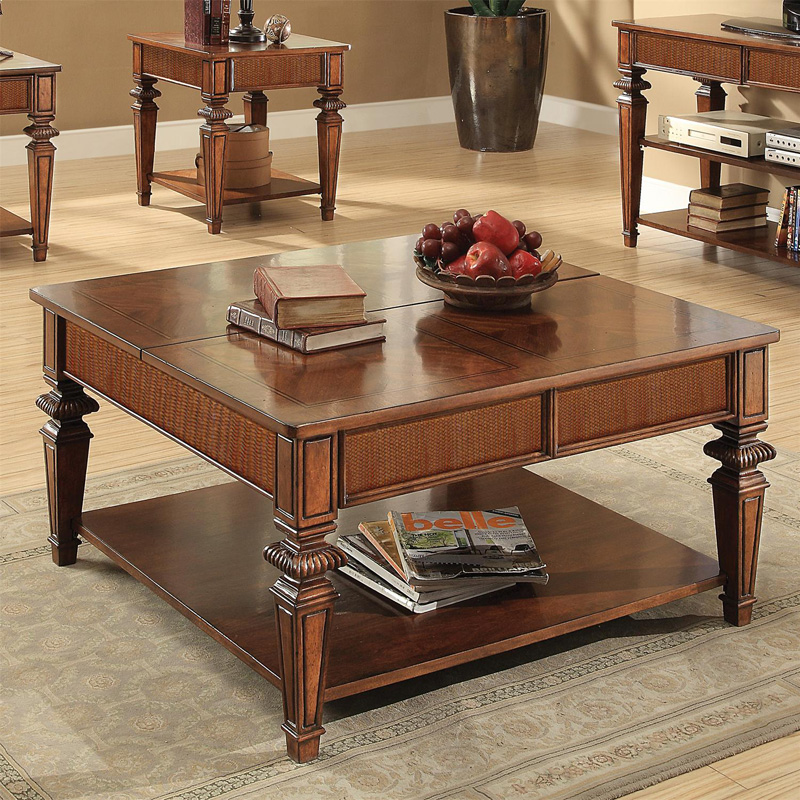 Riverside 42801 Windward Bay Square Lift Top Coffee Table Discount Furniture At Hickory Park