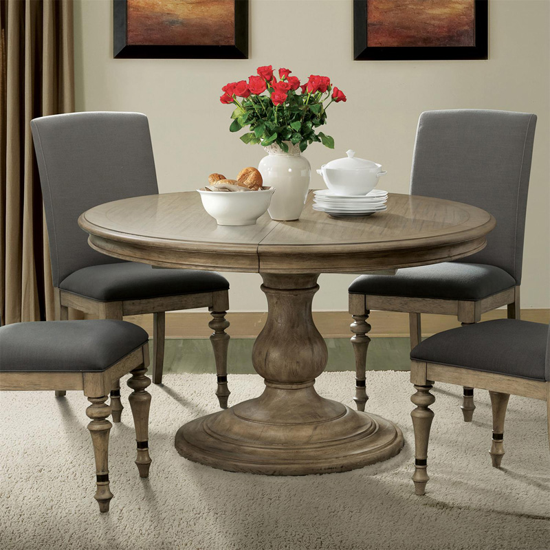Discount Kitchen Tables: Riverside 21554 Corinne Round Pedestal Dining Table