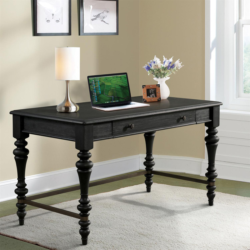 Riverside Corinne Black Writing Desk Discount