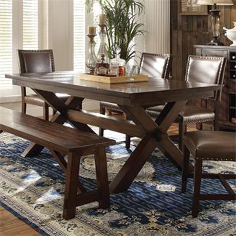 Moore Furniture Boise: Riverside 43593 Bedford Trestle Dining Table Discount