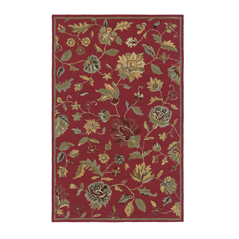 Rizzy Home DI1161 Dimensions Red Floral Rug Discount