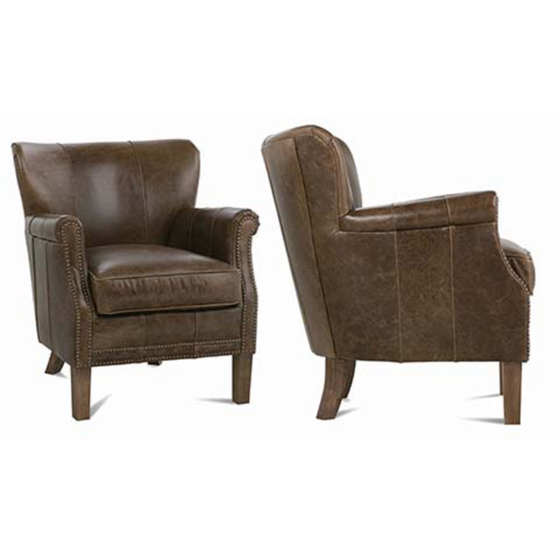 Robin Bruce L 006 Grant Leather Chair Discount Furniture At Hickory Park Furniture Galleries