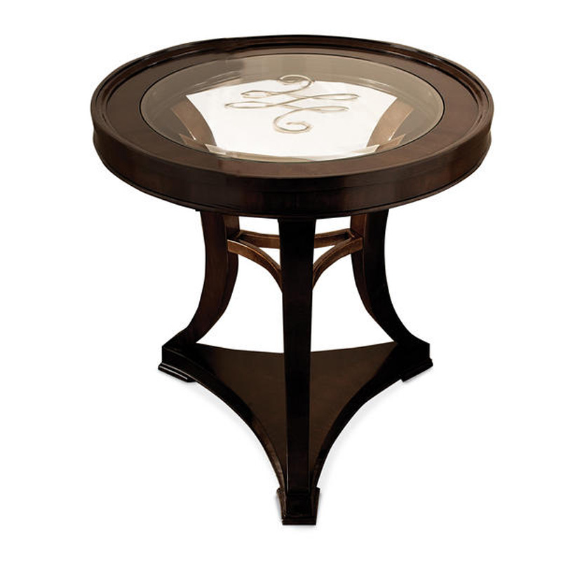 End Table With Glass Round 9091 330 Schnadig International