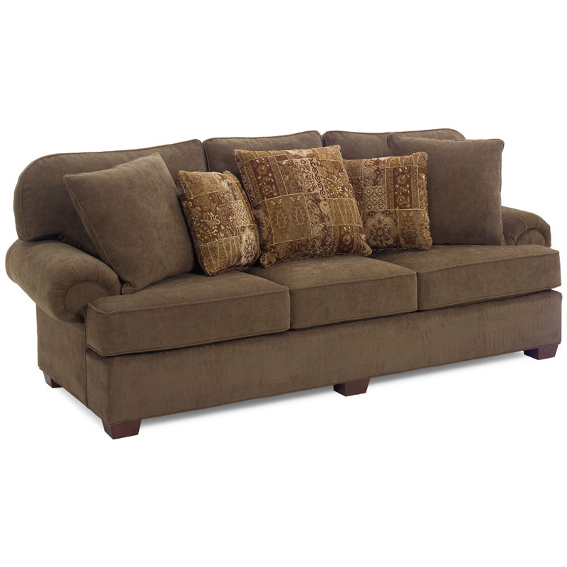 Comfy Sectional Sofa Klaussner Comfy Casual Sectional Sofa With Chaise Wayside Furniture Sofa