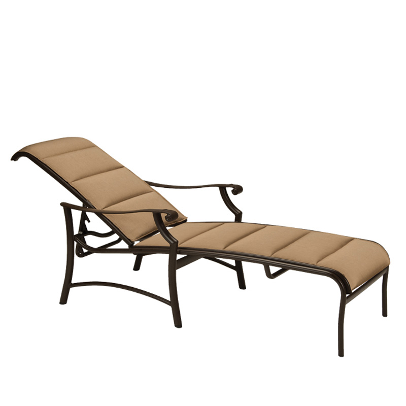tropitone 711232ps montreux ii padded sling chaise lounge. Black Bedroom Furniture Sets. Home Design Ideas