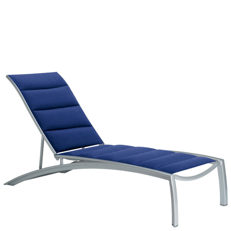 Tropitone 240532ps south beach padded sling chaise lounge for Beach chaise lounger