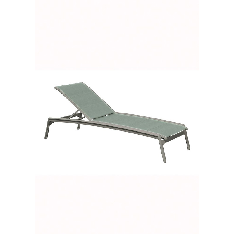 Tropitone 461132dp elance duplex sling chaise lounge for Armless chaise lounge