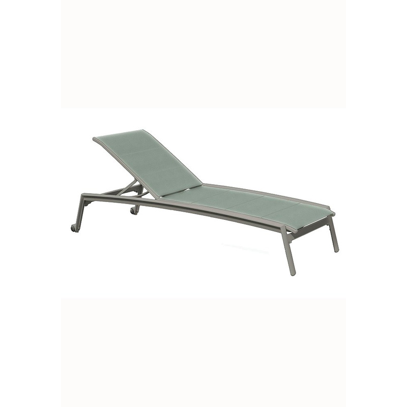 Tropitone 461132wdp elance duplex sling chaise lounge for Armless chaise lounge