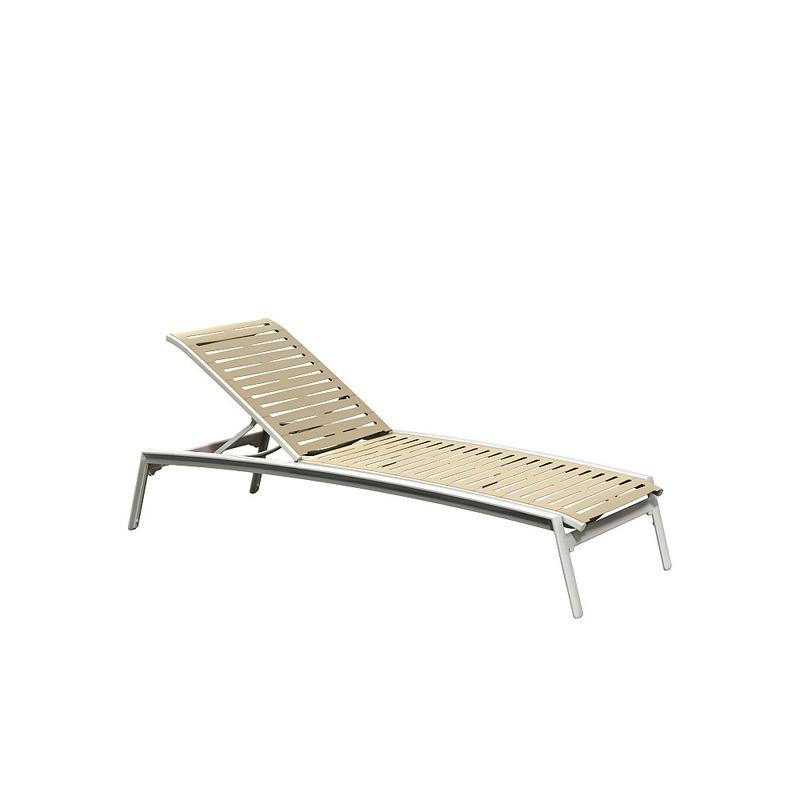 Tropitone 471132rb elance ez span ribbon segment chaise for Armless chaise lounge