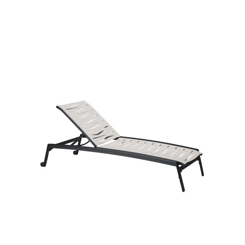 Tropitone 471132wvw elance ez span wave segment chaise for Armless chaise lounge