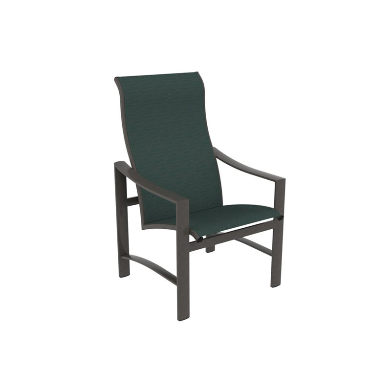 Tropitone 381501 kenzo sling high back dining chair for Cheap high back dining chairs